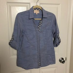 Skies Are Blue Chambray Button Down